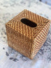 Rattan Tissue Box Square Natural