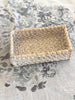 Rattan Vanity Tray White Wash Small