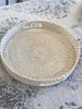 Rattan Round Tray White Wash