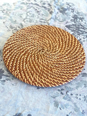 Rattan Round Placemat Natural