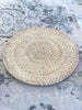 Rattan Round Placemat White Wash
