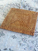 Rattan Square Placemat Natural