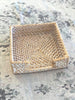 Rattan Napkin Box White Wash
