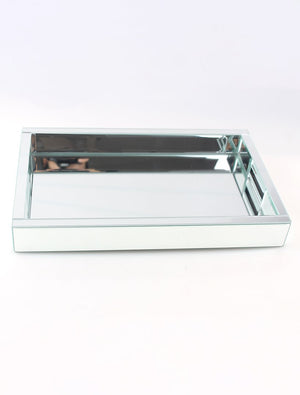 Mirrored Tray Large