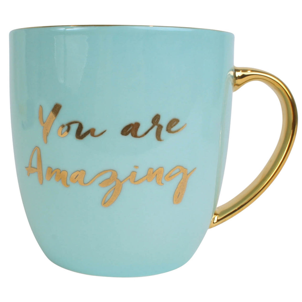 YOU ARE AMAZING BOXED MUG - AQUA