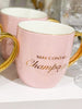 May Contain Champagne Mug Pink 350ML