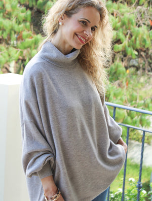 Tara Sweater High Neck Stone