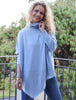 Turtle Neck Poncho Jumper Cerulean Blue