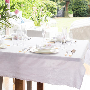 Fontainebleau Tablecloth White