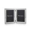 Silverplated Beaded Double Photo Frame