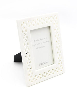 Marble Perforated Photo Frame 4x6