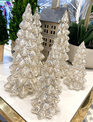 Glass Tree Silver Large