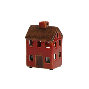 Alsace Petite Tea Light Chalet Brown Red