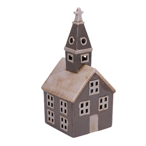 Alsace Tealight Church Grey