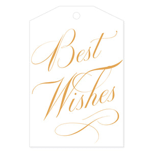 Best Wishes Gift Tag White