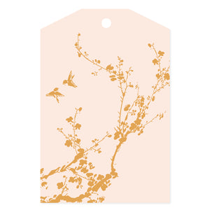 Chinoiserie Foil Print Pink
