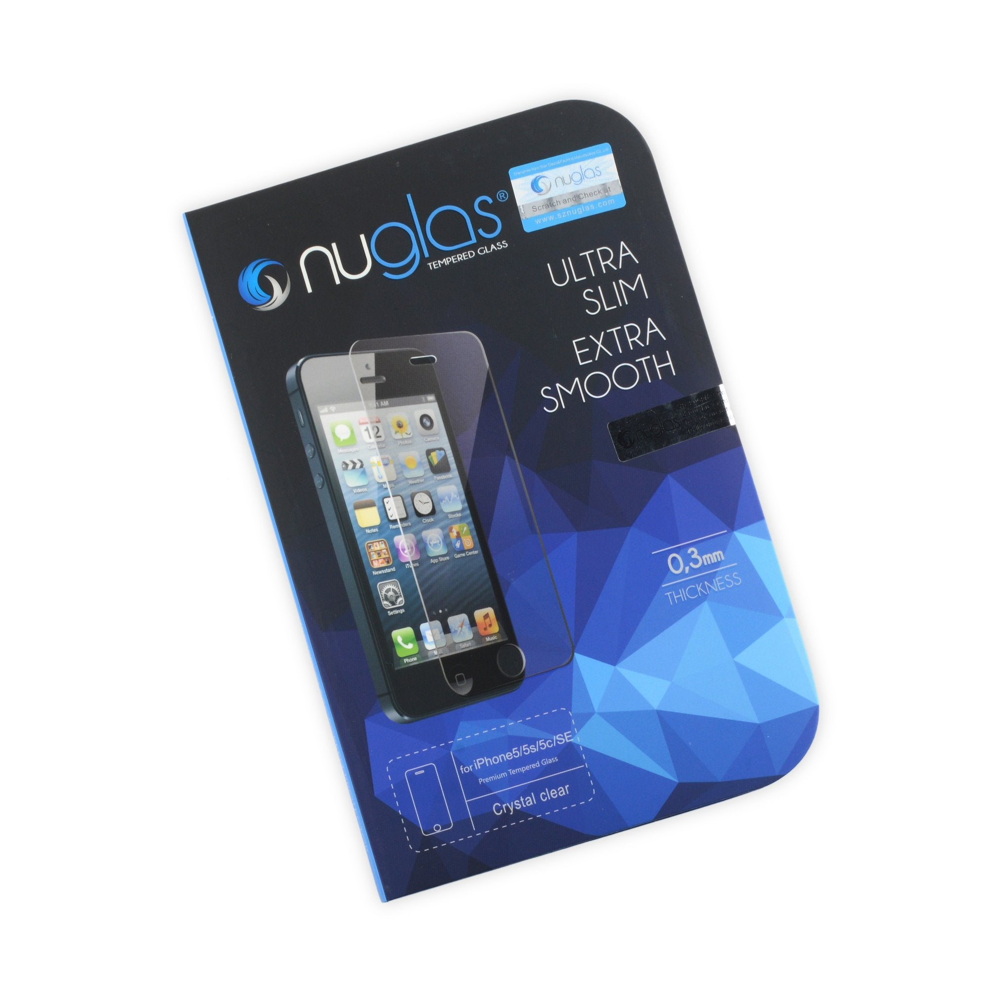NuGlas Screen Protector for iPhone 5/5s/5c/SE