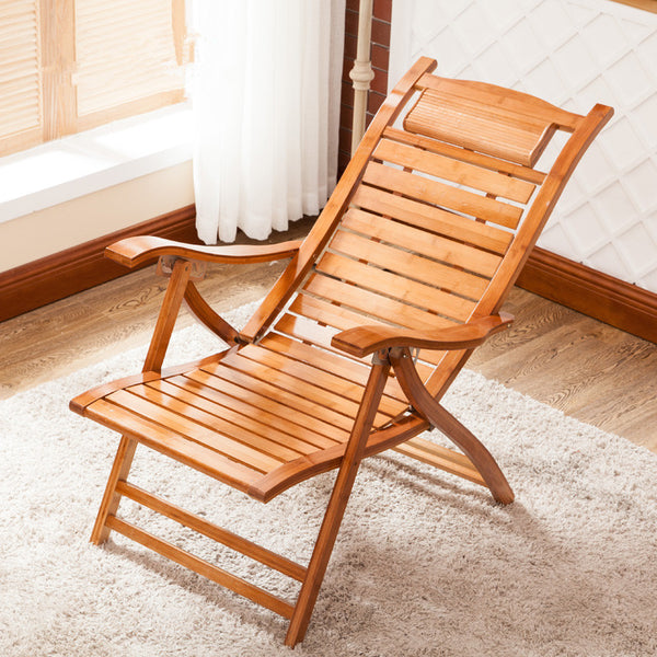 Modern Bamboo Reclining Indoor/Outdoor Chair