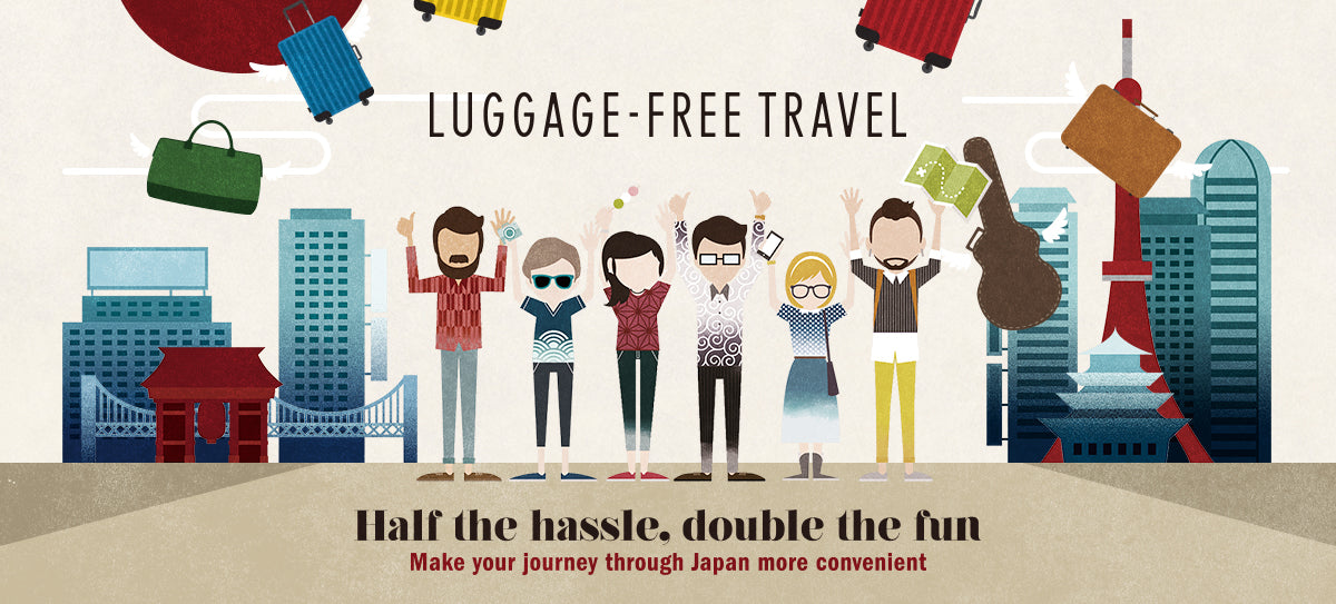 Traveling luggage free in Japan
