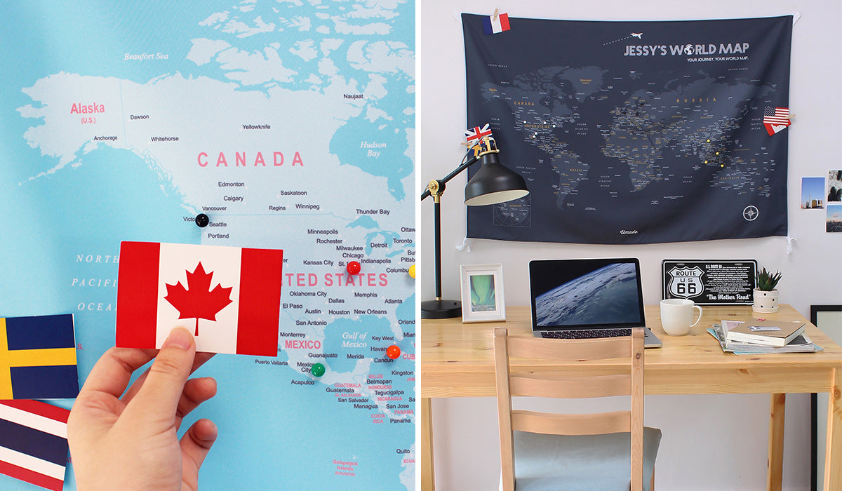 world map as a graduation gift for those who will study abroad or work in another counrty