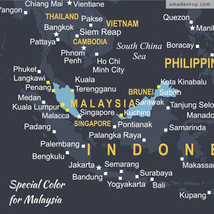 Special color for Malaysia