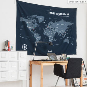 Having UMade world map in front the your desk keeps you motivated for your plans & travel dreams! A must-have for study room/ office.
