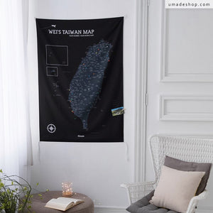 UMap。Taiwan Map - Black Black