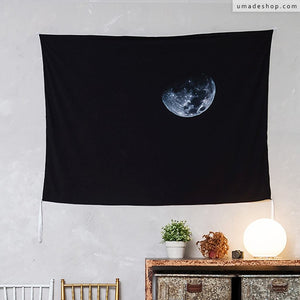 ★Wall Tapestry★ Black Moon (Horizontal) - Zakii