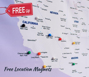 Free Colorful Location Magnets