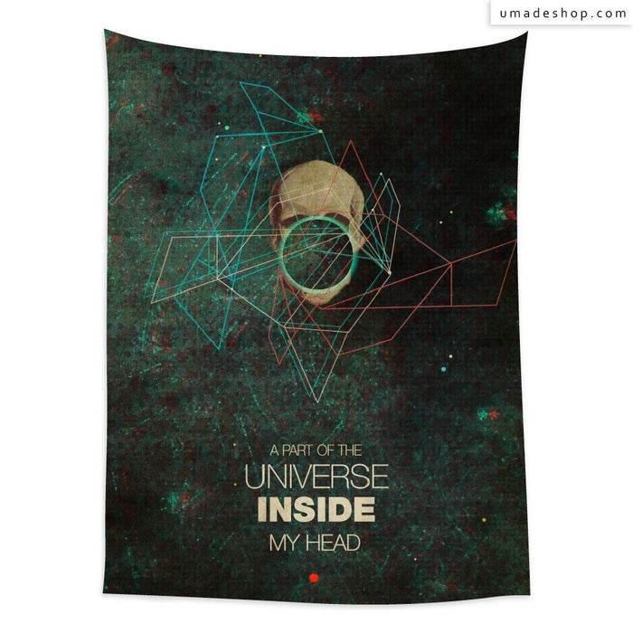 ★Wall Tapestry★ A Part of The Universe Inside My Head (Vertical) - Frank Moth