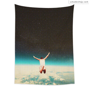 ★Wall Tapestry★ Falling With A Hidden Smile (Vertical) - Frank Moth