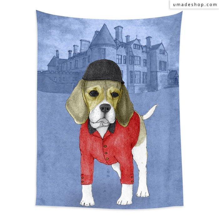 ★Wall Tapestry★ Beagle With Beaulieau Palace - Barruf