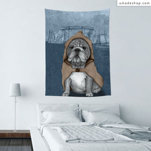 ★Wall Tapestry★ English Bulldog With Stonehenge - Barruf