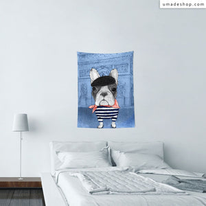 ★Wall Tapestry★ French Bulldog With Arc de Triomphe (v2) - Barruf