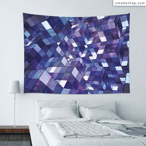 ★Wall Tapestry★ Purple Rubik Abstract - Barruf