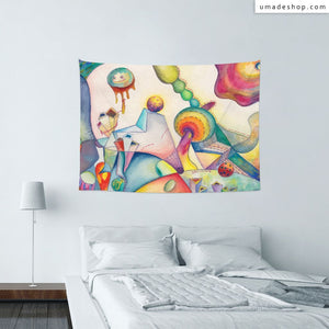 ★Wall Tapestry★ Street Party(Horizontal) - Glory Cheng