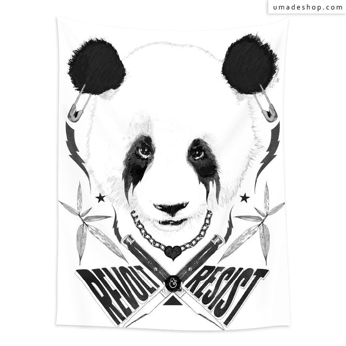 ★Wall Tapestry★ Black Metal Panda - Raphaël Vicenzi