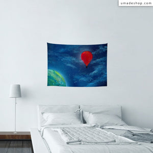 ★Wall Tapestry★ Starry Balloon - Spot Spray