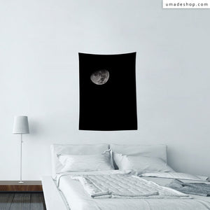 ★Wall Tapestry★ Black Moon (Vertical) - Zakii