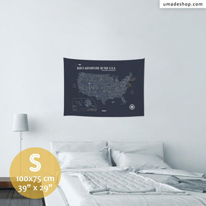UMap。U.S.A. Map - Space Gray