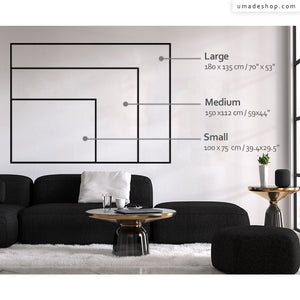Sizing Information, size, UMade, size comparison, wallart, wall display guide, size guide, size chart