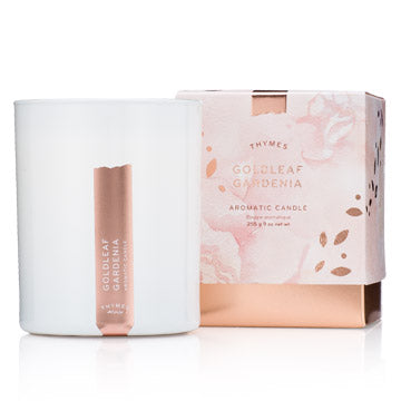 Thymes Goldleaf Gardenia Aromatic Candle