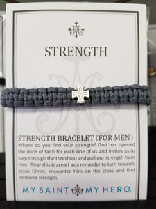Men's Gray Strength Bracelet