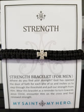 Load image into Gallery viewer, Men's Gray Strength Bracelet