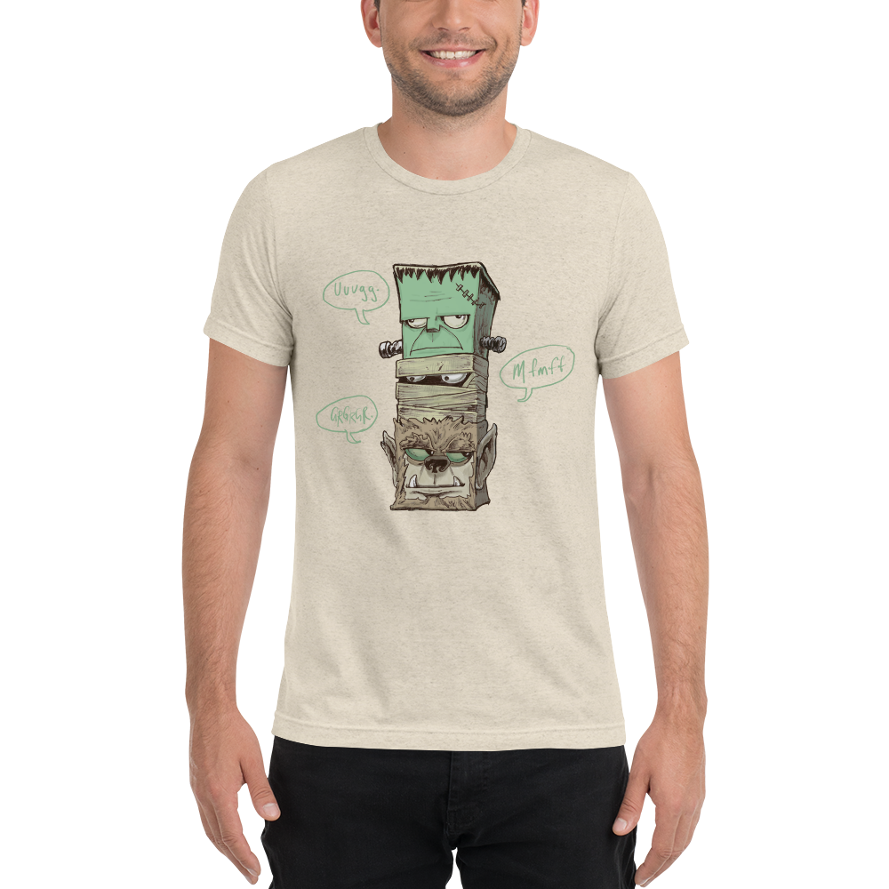 Classic Monsters Totem Men's Tee