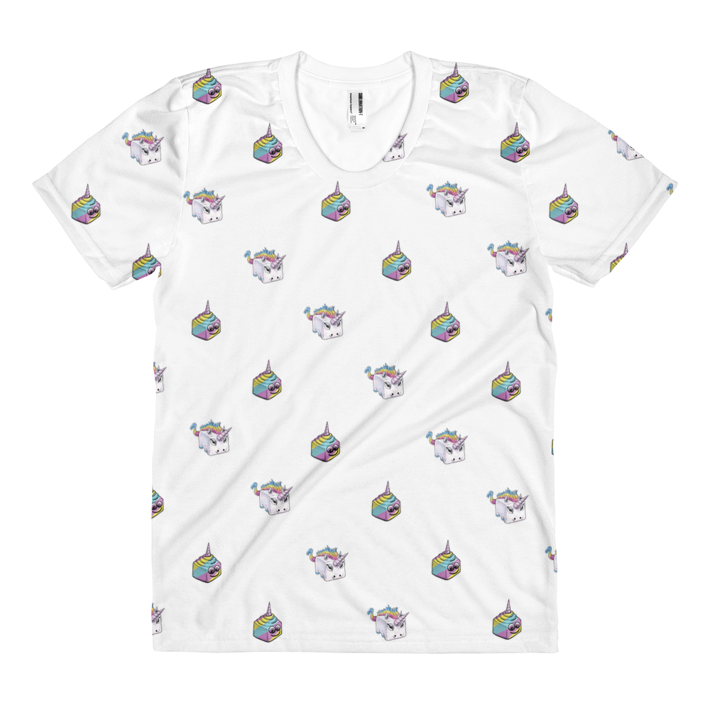 Unicorn & Unicorn Poop Pattern Women's Tee