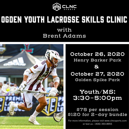 Ogden (UT) Youth Men's Lacrosse Clinic - October 26-27, 2020