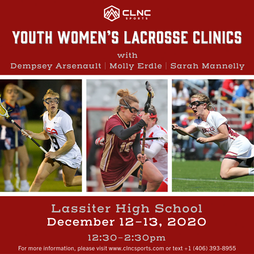 Atlanta (GA) YOUTH Women's Lacrosse Clinics - December 12-13, 2020