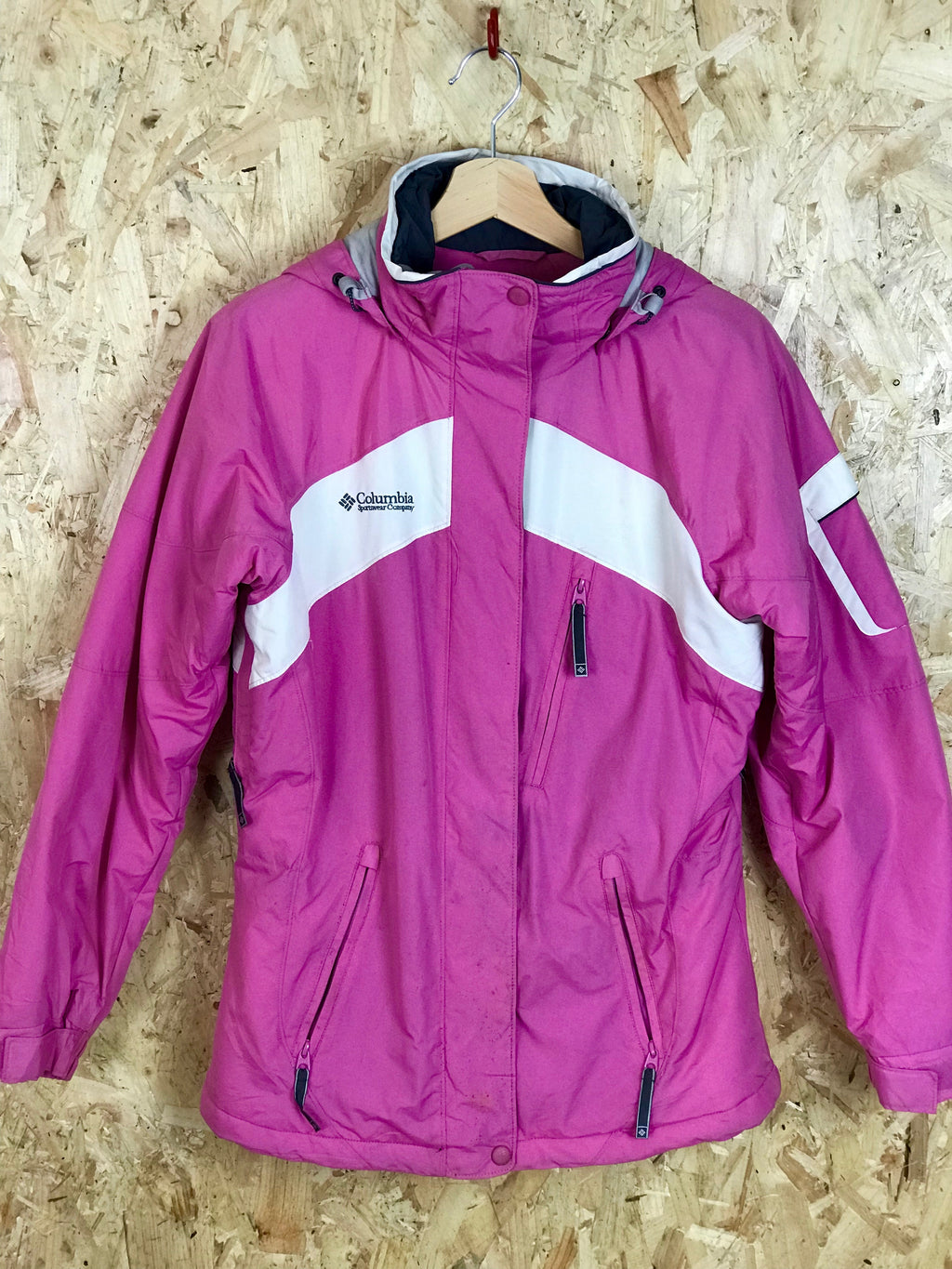 Pink/White Columbia Ski Jacket