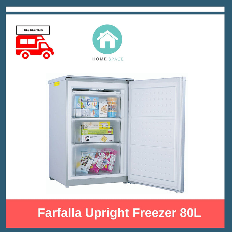 Farfalla Upright Freezer with 3 Transparent Drawers (80L)